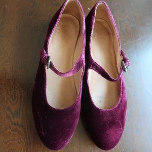 Madewell ruby velvet shoes